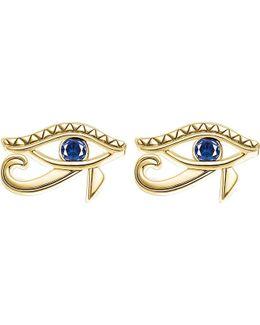Eye Of Horus 18ct Yellow Gold-plated Studs