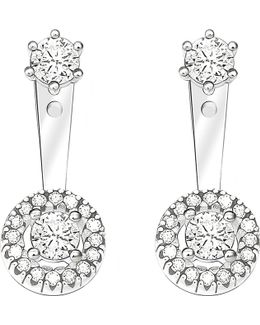 Glam & Soul Sterling Silver And White Zirconia Earrings