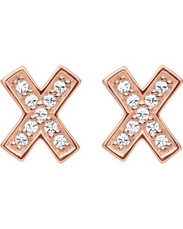 X 18ct Rose Gold-plated Earrings