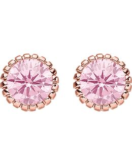 Glam & Soul 18ct Rose Gold-plated Zirconia Earrings