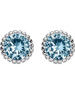 Glam & Soul Blue Stone Sterling Silver Ear Studs