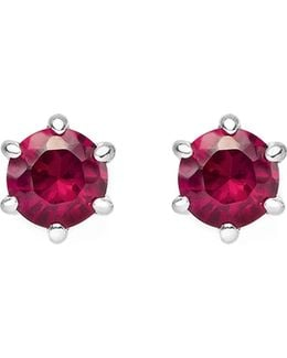 Glam And Soul Red Stone Sterling Silver Earrings