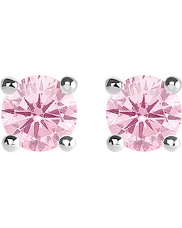 Glam And Soul Pink Stone Large Sterling Silver Earrings