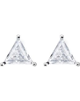 Glam & Soul Triangle Sterling Silver Ear Studs