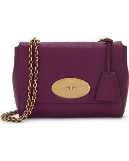 Lily Grained Leather Shoulder Bag