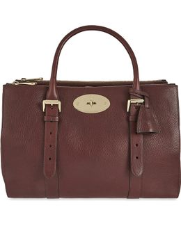 Bayswater Leather Double Zip Tote