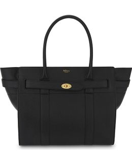 Bayswater Zip Top Grained Leather Tote