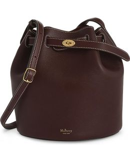Abbey Smooth Leather Bucket Bag