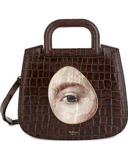 Brimley Croc-embossed Leather Satchel Bag