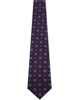 Geometric Tile Silk Tie