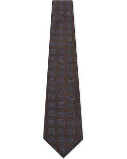 Large Tile Silk Tie