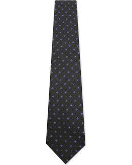 Floral Diamonds Silk Tie