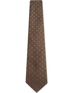 Spot Textured Silk Tie