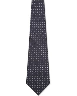 Embroidered Spot Silk Tie