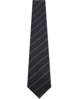 Silk And Cashmere Brushed Stripe Tie