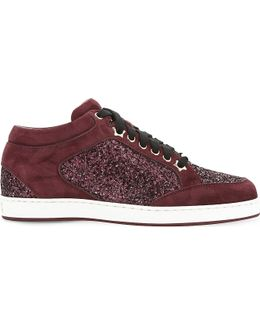 Miami Galaxy Suede And Glitter Trainers
