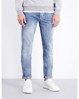 Faded Slim-fit Mid-rise Jeans