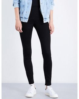Sculpted Skinny Mid-rise Jeans