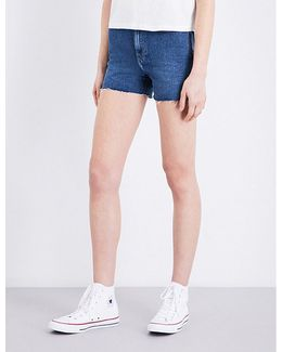 High-rise Cut-off Denim Shorts