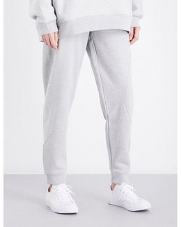 Skinny Mid-rise Cotton-jersey Jogging Bottoms