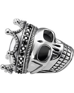 Skull King Sterling Silver Karma Bead