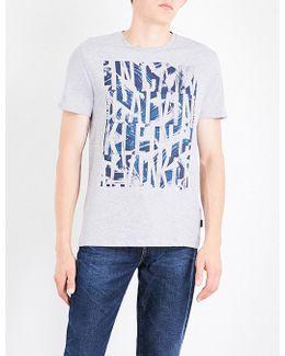 Janter Logo-print Cotton-jersey T-shirt