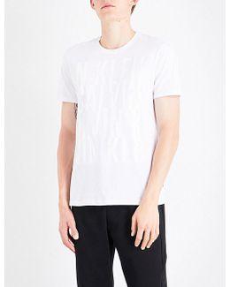 Jasker Logo-embroidered Cotton-jersey T-shirt