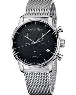 City Stainless Steel Chronograph Watch