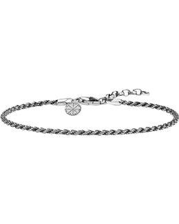 Karma Wheel Sterling Silver Bracelet