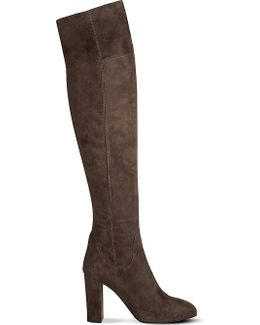 Kaelynn Suede Over-the-knee Boots