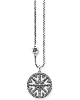 Karma Beads Wheel Of Karma Sterling Silver Necklace