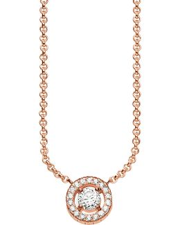 Light Of Luna 18ct Rose Gold-plated Sterling Silver Necklace