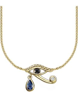Eye Of Horus 18ct Yellow Gold-plated Necklace