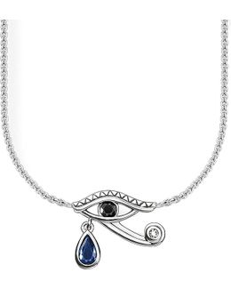 Eye Of Horus Sterling Silver Necklace