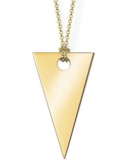 18ct Rose Gold Triangle Necklace