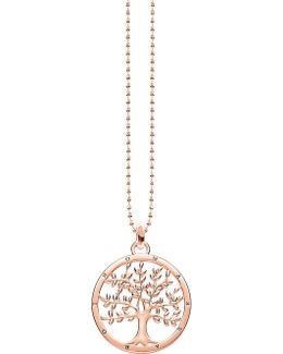 Tree Of Love 18ct Rose Gold-plated Sterling Silver Necklace