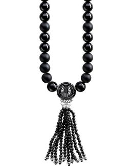 Rebel At Heart Mala Power Sterling Silver And Obsidian Bead Necklace