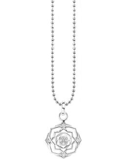 Sahasrāra Chakra Sterling Silver And Crystal Necklace