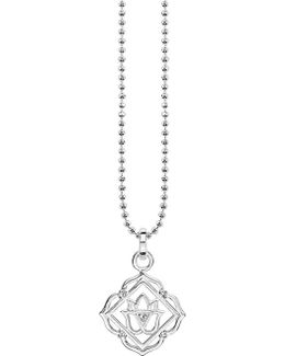 Mūlādhāra Chakra Sterling Silver And Crystal Necklace