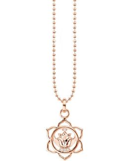 Svādhisthāna 18ct Rose Gold-plated Sterling Silver And Crystal Necklace