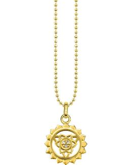 Viśuddha 18ct Gold-plated Sterling Silver And Crystal Necklace