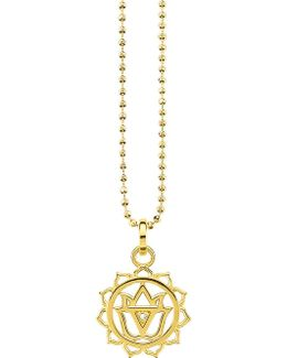 Manipūra 18ct Gold-plated Sterling Silver And Crystal Necklace