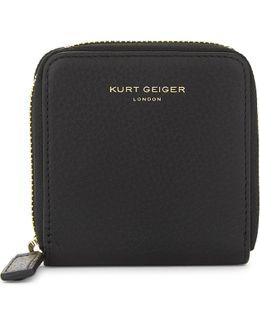 Mini Leather Zip-around Wallet