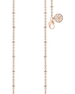 Karma Wheel 18ct Rose Gold-plated Necklace
