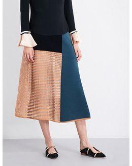 Kascmo Knitted Midi Skirt