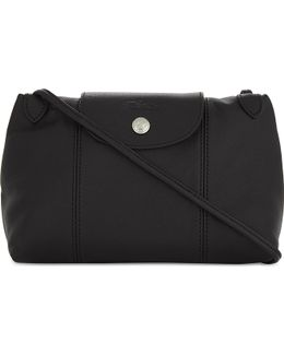 Le Pliage Cuir Leather Cross-body Bag