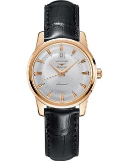 L1.611.8.78.4 Conquest Heritage Rose Gold Watch