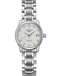 L2.128.4.77.6 Master Automatic Stainless Steel And Diamond Watch