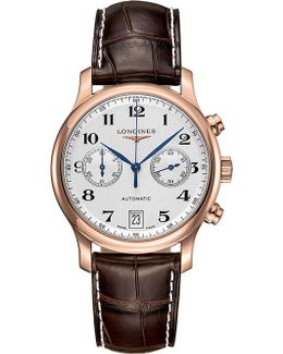 L26698783 Master Collection Rose-gold And Leather Automatic Watch