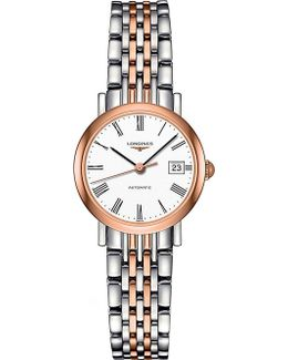 L4.309.5.11.7 Elegant Stainless Steel And Rose Gold Watch